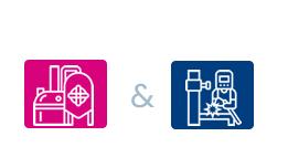 industriele metaalbouw en metalurgie icon